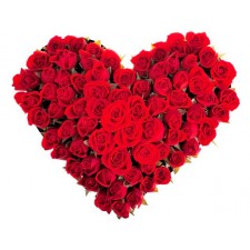 Red Desire - Inima din 45 trandafiri rosii