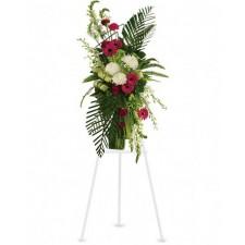 Simple - Coroana din gerbera, garoafe, orhidee, crizanteme si delphinium