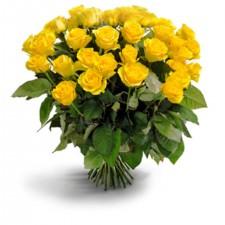 Soarele Rasare! - Buchet din 35 trandafiri galbeni