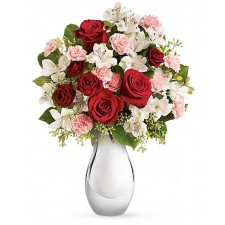 Sweet emotions - Buchet trandafiri, alstroemeria si garoafe