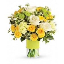 Sweet Smile - Buchet din trandafiri, garoafe si crizanteme