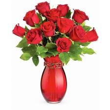 Te chem in inima mea - Buchet din trandafiri rosii