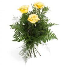 Trei Raze – Buchet din 3 trandafiri galbeni