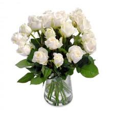 Visare – Buchet din 21 trandafiri albi