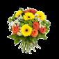Sunny Day - Buchet din trandafiri si gerbera