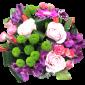 Rasfat - Buchet din trandafiri, alstroemeria si crizanteme