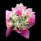 Zambeste – Buchet din trandafiri si alstroemeria