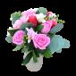 Adorabil – Buchet cu trandafiri si frezii