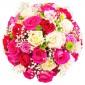 All I need is love Deluxe - Buchet cu 31 trandafiri multicolori