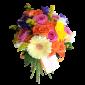 Viva la Vida – Buchet cu gerbera, trandafiri si frezii