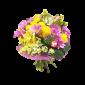 Blush - Buchet din trandafiri, crizanteme si alstroemeria