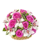 Gorgeous - Cos cu trandafiri si orhidee