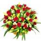 Luxurious- Cos din trandafiri, crini si eustoma