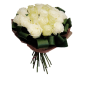 Perfectiune – Buchet rotund cu 19 trandafiri albi