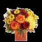 Toamna Aurie - Buchet din trandafiri si crizanteme