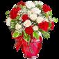 Veritabil – Buchet din trandafiri si garoafe