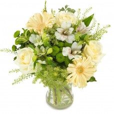 Just Breathe – Buchet cu trandafiri, alstroemeria si gerbera