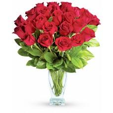 Ruby Rose Deluxe – Buchet cu 27 trandafiri rosii