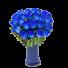 Aquamarine - Buchet din 25 trandafiri albastri