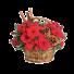 Aroma Sarbatorii – Cos cu gerbera, trandafiri si garoafe