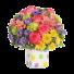 Veselie Colorata – Buchet cu trandafiri, crizanteme si alstroemeria