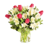 Crystal Blush - Buchet lalele roz si alstroemeria