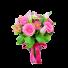 In al Noualea Cer - Buchet cu lalele, trandafiri, gerbera si alstroemeria