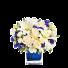 Saphyre - Buchet din crini, trandafiri si garofite
